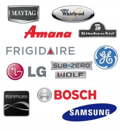 Bosch, Maytag, GE, Whirlpool, KitchenAid