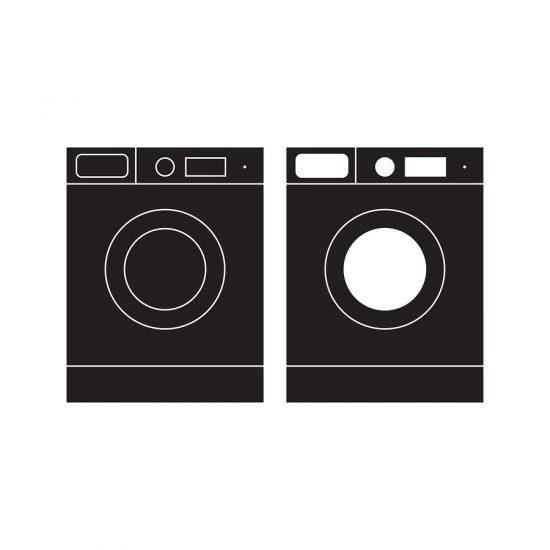 washing machine & clothes dryer